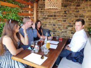 A few more of the Elevate2 UK team enjoying a cocktail in the sunshine!