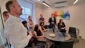 Our UK team raising an e-toast!
